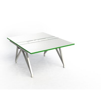 Eyhov Rail Double Open Workstation Finish: Matte White/Scale Green