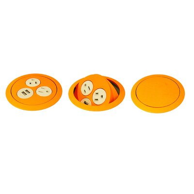 Flip Surface Mounted Outlet Color: Orange
