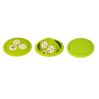 Flip Surface Mounted Outlet Color: Green