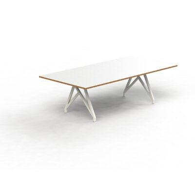 Think Tank 8 Rectangular Conference Table Top Finish: White Matte/Tangerine