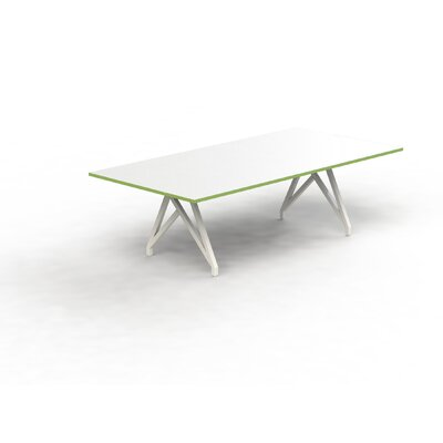 Think Tank 8 Rectangular Conference Table Top Finish: White Matte/Scale Green