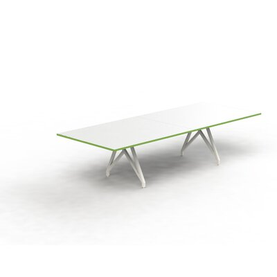 Think Tank Rectangular 31H x 120W x 48L Conference Table Top Finish: White Matte/Scale Green, Size: 31 H x 120 W x 48 D