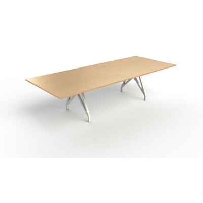 Think Tank Rectangular 31H x 120W x 48L Conference Table Top Finish: Maple, Size: 31 H x 144 W x 48 D