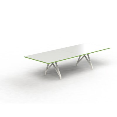 Think Tank Rectangular 31H x 120W x 48L Conference Table Top Finish: White Gloss/Scale Green, Size: 31 H x 144 W x 48 D