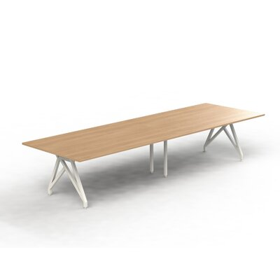 Think Tank Rectangular 31H x 120W x 48L Conference Table Top Finish: Brazil Wood, Size: 31 H x 144 W x 48 D