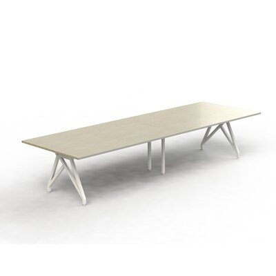 Think Tank Rectangular 31H x 120W x 48L Conference Table Top Finish: Sand Castle, Size: 31 H x 144 W x 48 D