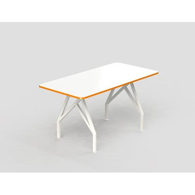 Hot Spot Bar Height Rectangular Conference Table Top Finish: White Dry Erase/Tangerine, Size: 40 H x 36 W x 72 D