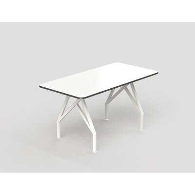 Hot Spot Bar Height Rectangular Conference Table Top Finish: White Dry Erase/Storm Gray, Size: 40 H x 36 W x 84 D