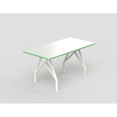 Hot Spot Bar Height Rectangular Conference Table Top Finish: White Dry Erase/Scale Green, Size: 40 H x 36 W x 72 D