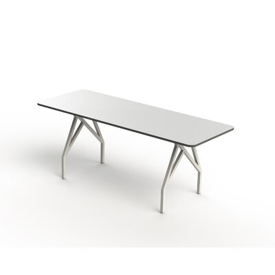 Hot Spot Bar Height Rectangular Conference Table Top Finish: White Matte/Storm Gray, Size: 40 H x 36 W x 84 D