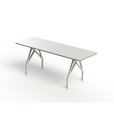 Hot Spot Bar Height Rectangular Conference Table Top Finish: White Matte/Scale Green, Size: 40 H x 36 W x 72 D