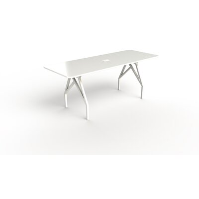 Hot Spot Bar Height Rectangular Conference Table Top Finish: White Dry Erase, Size: 40 H x 36 W x 96 D