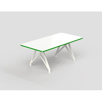 Hot Spot Rectangular Conference Table Top Finish: White Matte/Scale Green, Size: 30 H x 36 W x 84 D