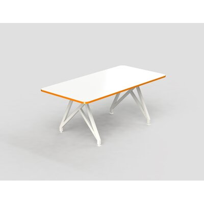 Hot Spot Rectangular Conference Table Top Finish: White Dry Erase/Tangerine, Size: 30 H x 36 W x 84 D