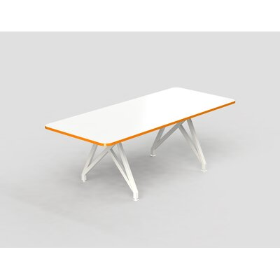 Hot Spot Rectangular Conference Table Top Finish: White Matte/Tangerine, Size: 30 H x 36 W x 96 D