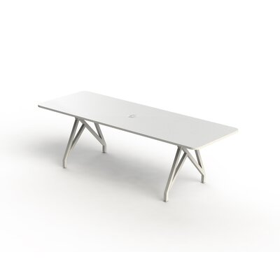Hot Spot Rectangular Conference Table Top Finish: White Matte, Size: 30 H x 36 W x 96 D