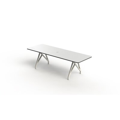 Hot Spot Rectangular Conference Table Top Finish: White Matte/Storm Gray, Size: 30 H x 36 W x 96 D