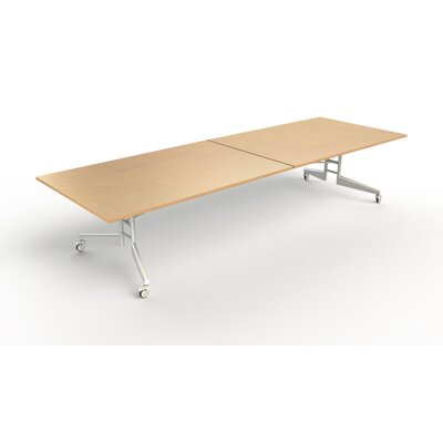 Nomad Rectangular 86H x 48W x 144L Conference Table Finish: Maple