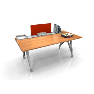 EYHOV Rail Single Workstation Finish: Maple, Size: 72 W x 36 D 147 Product Photo
