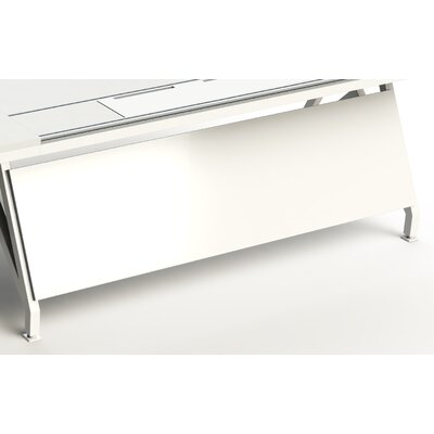 EYHOV Workstations Accessories Desk Privacy Panel Size: 18 H x 60 W x 1 D, Finish: White