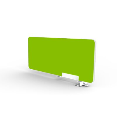 Eyhov Rail 12 H x 28 W Desk Privacy Panel Finish: Scale Green
