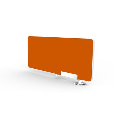 Eyhov Rail 12 H x 28 W Desk Privacy Panel Finish: Tangerine