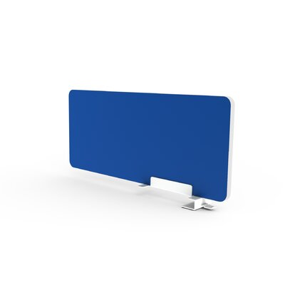 Eyhov Rail 12 H x 28 W Desk Privacy Panel Finish: Arctic Blue