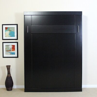 Full/Double Murphy Bed Finish: Chocolate, Size: Full