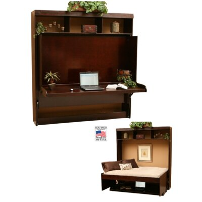Modern Birch Murphy Bed Size: Full, Color: Cinnamon
