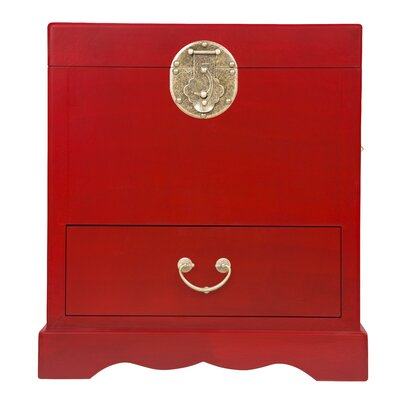 Eden Home Sada End Table Finish: Rich Red