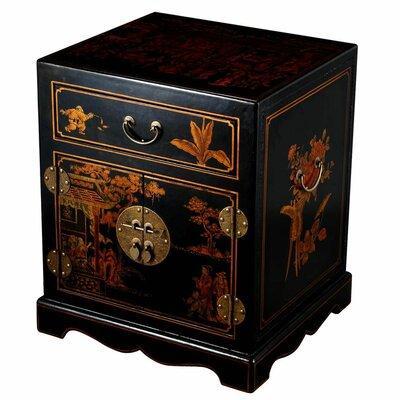 Cheap EXP Decor Handmade Leather Mandarin End Table/Nightstand (ETX1037)