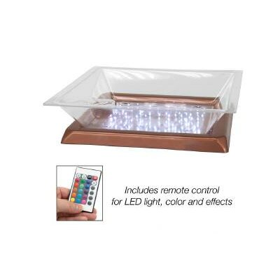 "Lighted Ice Display Base Color: Copper, Size: 6"" H x 20"" W x 20"" D"