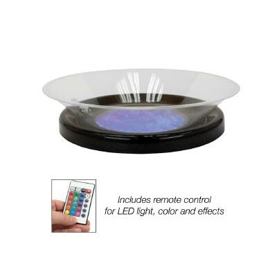 Round Lighted Ice Display Base Color: Black