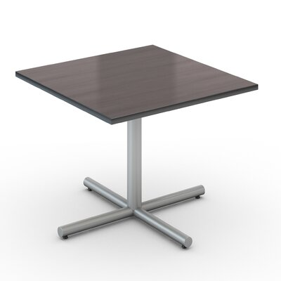 Square Saturn Desk Tabletop Finish: Smoky Brown Pear, Size: 48 x 48