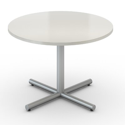 48 Round Saturn Table Tabletop Finish: Dover White, Size: 36 x 36