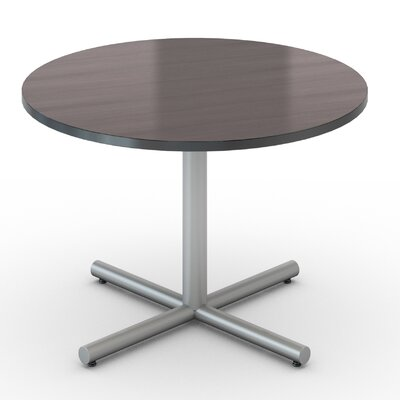 Saturn Round Table Tabletop Finish: Smoky Brown Pear, Size: 48 x 48