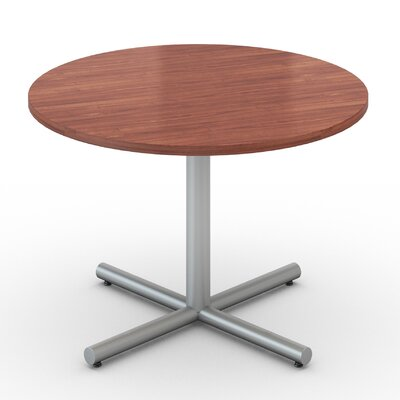 48 Round Saturn Table Tabletop Finish: Wild Cherry, Size: 48 x 48