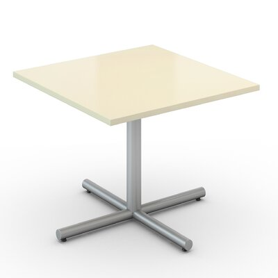 Square Saturn Desk Tabletop Finish: Pearl, Size: 36 x 36