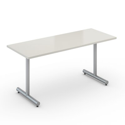Saturn 20 x 60 Desk Size Training Table Color: Dover White Product Image 491