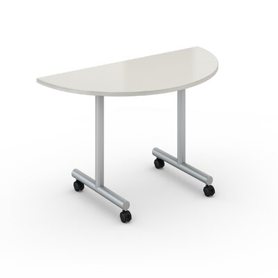 48 W Saturn Training Table with Wheels Tabletop Finish: Dover White, Size: 24 x 48