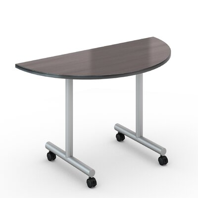 48 W Saturn Training Table with Wheels Tabletop Finish: Smoky Brown Pear, Size: 24 x 48