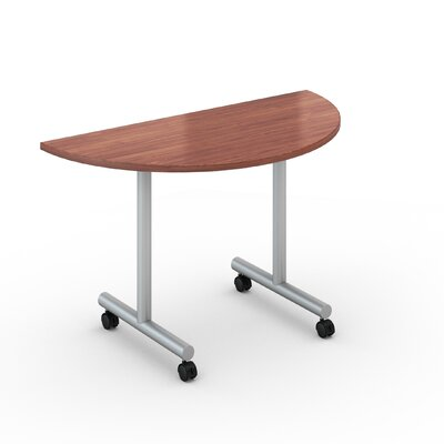 Saturn Training Table with Wheels Tabletop Finish: Wild Cherry, Size: 24 x 48
