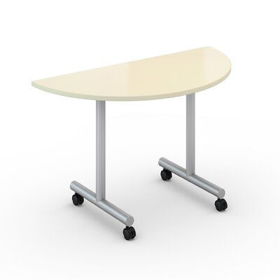 48 W Saturn Training Table with Wheels Tabletop Finish: Pearl, Size: 30 x 60