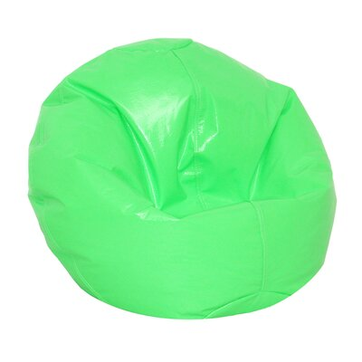 Zipped Bean Bag Chair Upholstery: Neon Green