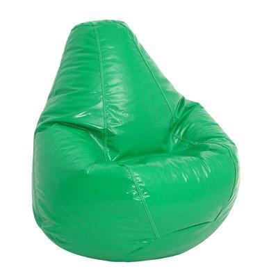 Zipped Bean Bag Lounger Upholstery: Green
