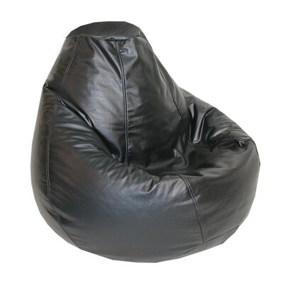 Lifestyle Bean Bag Lounger Upholstery: Black