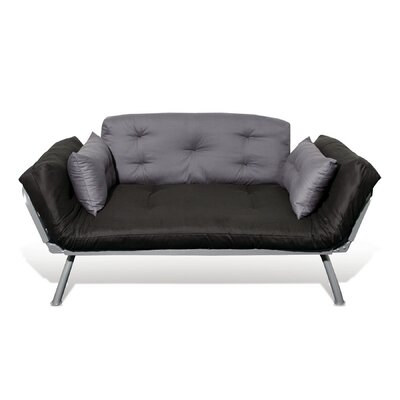 Jema Futon and Mattress Upholstery: Coal/Pewter