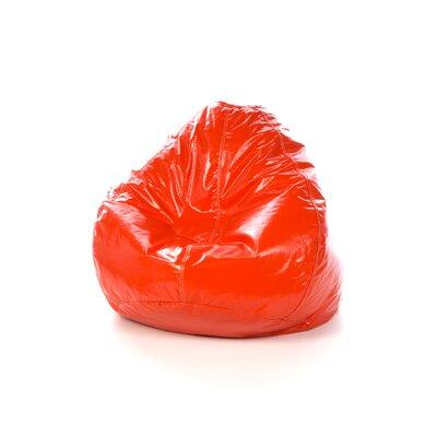 Vinyl Bean Bag Chair Upholstery: Orange