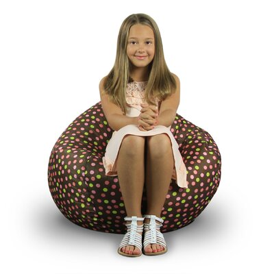 Fun Factory Bean Bag Chair Upholstery: Brown with Polka Dot