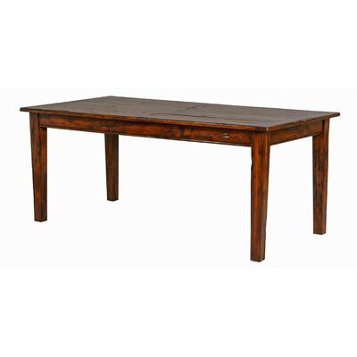 Hand Planed Dining Table Finish: Distressed Brown